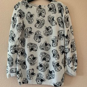 Oversized Abstract Jaguar Knitted Sweater
